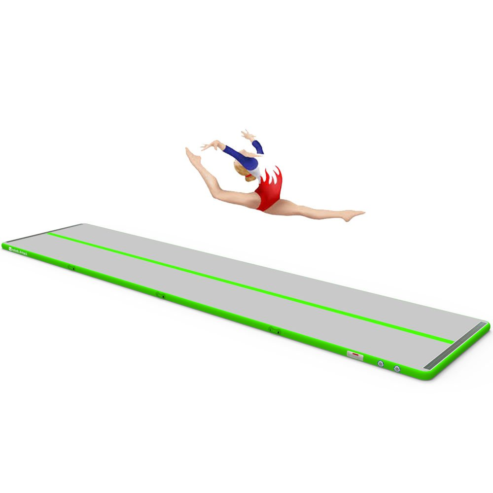 Sinolodo Inflatable Gymnastics Air Tumble Track S2 Practice, Training, Gymnastics, Tumbling Heavy-Duty, Easy-to-Inflate Mat Indoor Outdoor Use Girls, Boys 5 W x 4 H