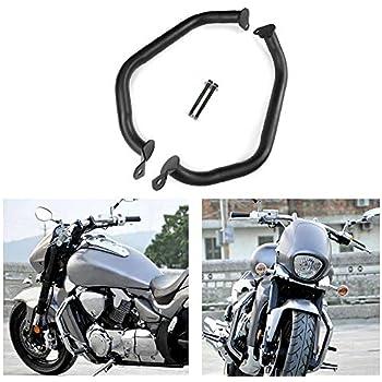 Black Newsmarts Motorcycle Engine Guard Highway Crash Bar Frame Protector for Suzuki Boulevard M109R 2007-2018