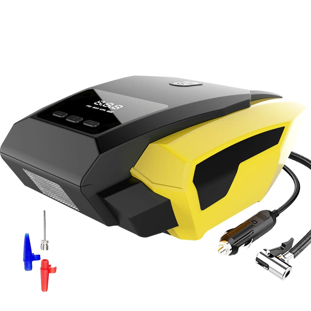 Portable Air Compressor, Digital Tire Inflator with Gauge, Car Air Compressor Pump, 12v 150 Psi Air Pump for Cars, Bicycles, Basketballs, Balloons Ev0pioneer