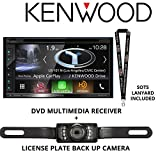 Kenwood DNX574S In Dash Navigation System 6.8″ Touchscreen Display, Built in Bluetooth, HD Radio with Universal License Plate Style Backup Camera and a FREE SOTS Lanyard For Sale