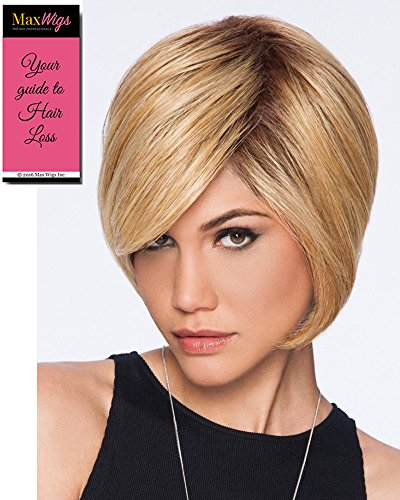 Layered Bob Color SS14/88 SHADED GOLDEN WHEAT - Hairdo Wigs Soft Side Swept Bang Tru2Life Heat Friendly Synthetic Volume Sleek Curves Bundle with Maxwigs Hairloss Booklet