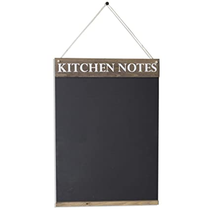 Chalkboards UK Pizarras de Cocina de Reino Unido, Pizarra, Madera, marrón rústico, 420 x 600 mm