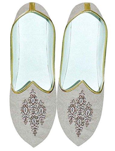 INMONARCH Crema Hombres Zapatos de Boda Para Novio MJ0706
