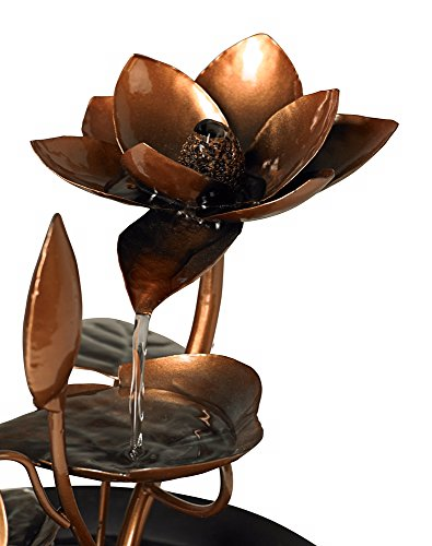 Begonia Flowers Small Cascading Indoor Tabletop Fountain