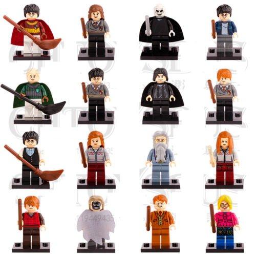 L 16pcs Harry Potter Ron Weasley Hermione Dumbledore Snape Ginny Minifigures Toys (Marvel Classic Hulk Costume Kit)