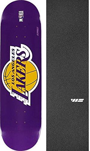 Aluminati Skateboards NBA LA Lakers Woody Skateboard Deck - 8'' x 32'' with Jessup WS Die-Cut Griptape - Bundle of 2 Items by Aluminati Skateboards