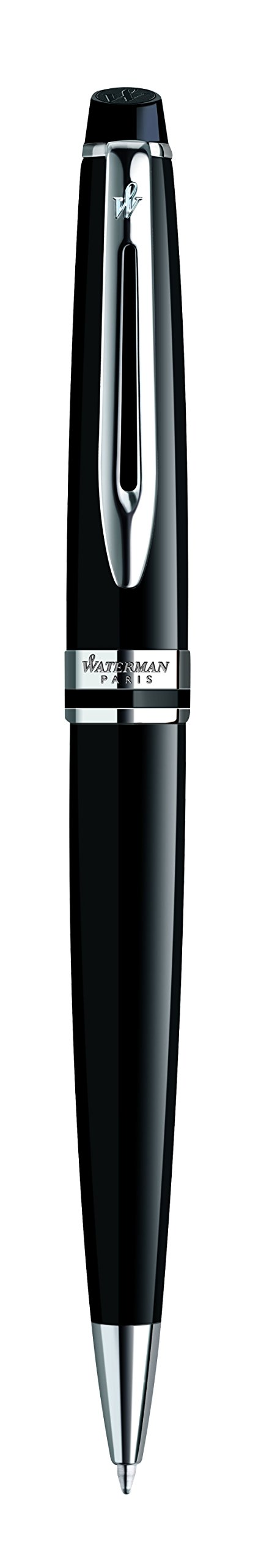 Waterman Expert Ballpoint Pen, Gloss Black with Chrome Trim, Medium Point with Blue Ink Cartridge, Gift Box by Waterman (Image #7)