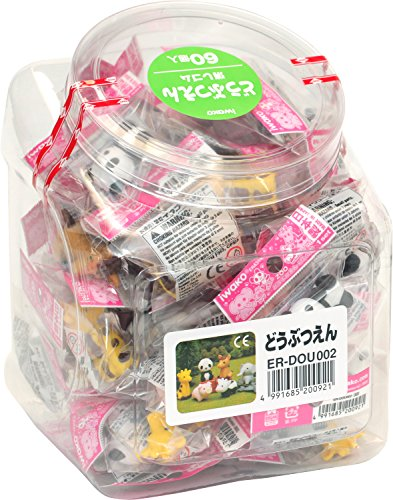 [Eraser iwako of Japan]  60 pieces Zoo eraser, SCERDOU002 (Import Japan)