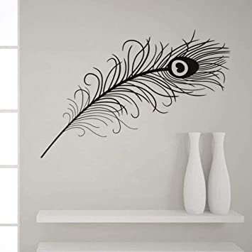 SELECT SIZE Peacock Feathers Car Vinyl Sticker