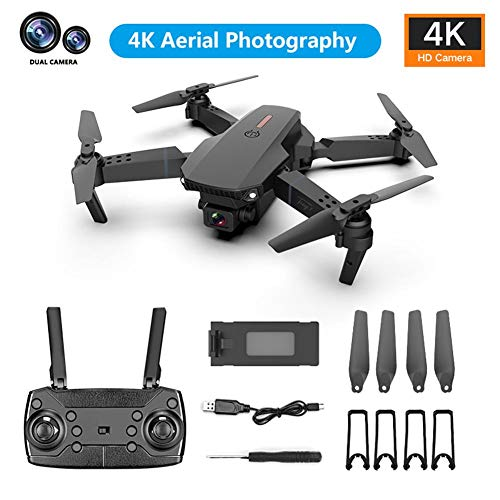 CAPTHOME E88 GPS Drone 4K with FPV Camera Live Video, Foldable Drone with 720P HD Dual Cameras, Auto Return Home…