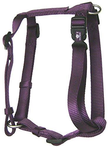Hamilton B CFA MDPM Adjustable Comfort Dog Harness Fits Chest Size 20 to 30-Inch with Brushed Hardware Ring, Medium, Plum