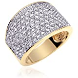 Stunning and Irresistible: Vermeil Multi CZ Brilliant Fashion Ring