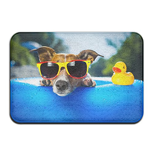 Yo Ou Doormats Rug Duck Dog Sunglasses Casual Non-Slip Runner Floor Rug Doormat Entry Carpet Indoor Outdoor Mats Rug - Sunglasses Museum