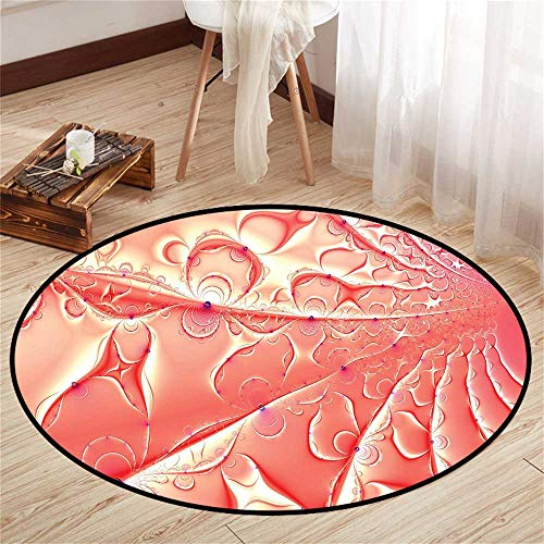 Circularity Floor mat Carpet Round Indoor Floor mat Entrance Circle Floor mat for Office Chair Wood Floor Circle Floor mat Office Round mat for Living Room Pattern 2'9