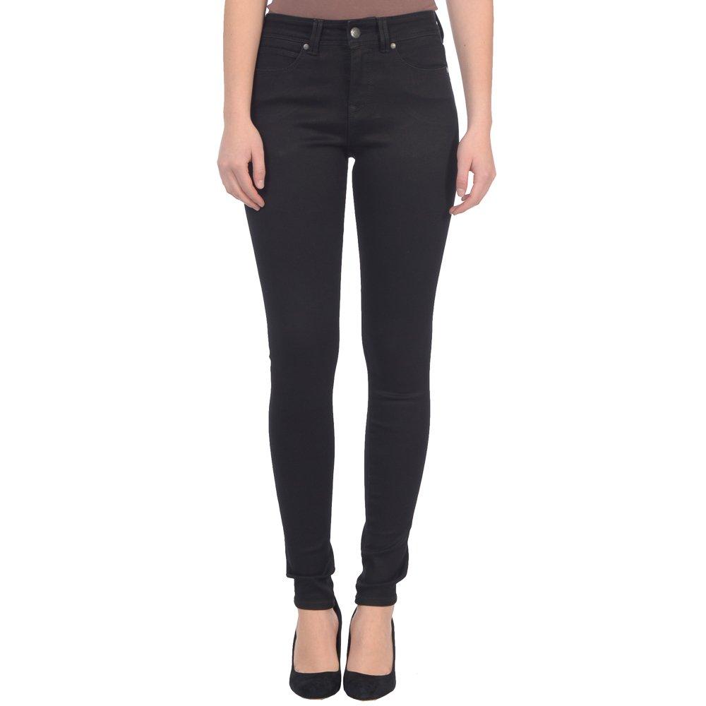 New Black Lola Jeans Women's Alexa High Waist Stretch Skinny Jean
