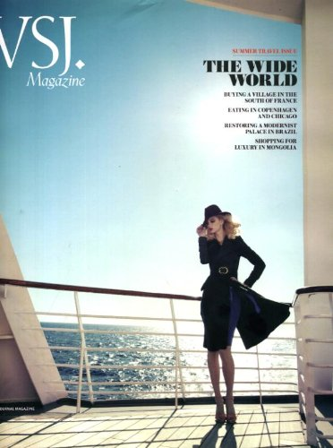 WSJ Magazine July/August 2011 Summer Travel Issue, Buying a Village in the South of France, Eating in Copenhagen & Chicago, Restoring a Modernist Palace in Brazil, Shopping for Luxury in - Street Copenhagen Shopping