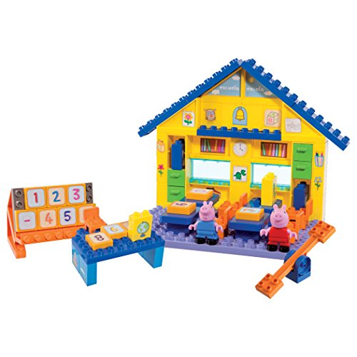 Peppa Pig School Construction Set - Includes Peppa and George figures -...