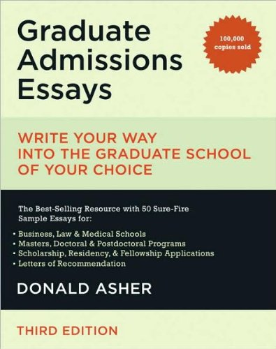graduate admissions essays fourth edition The fully updated fourth edition of the go-to guide for craftingwinning essays for  any type of graduate program or scholarship,including phd, master's, mba, md,.