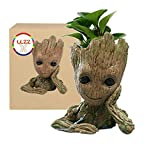 LLZZ Creative Baby Groot Planter Pot Groot Flowerpot Tree Man Pen Container Movie Guardians of the Galaxy 2 Action Figures Toy Gift