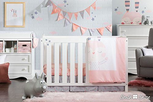 South Shore Doudou The Rabbit 3-Piece Baby Crib Bed Set and Pillow, Pink by South Shore (Image #3)