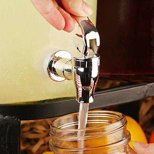 Double Drinks Dispenser Juice Dispenser Mason Jar Beverage Dispenser Cocktail Dispenser Dual Mason Jar Drinks Dispenser with Stand 352oz // 10ltr bar@drinkstuff Double Beverage Dispenser