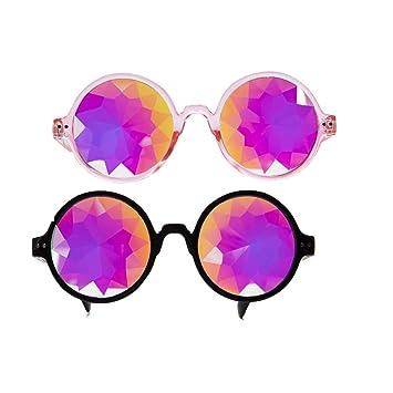 Kaleidoskop Psychedelische Prisma Steampunk Brille Sonnenbrille Gläs Party Rave