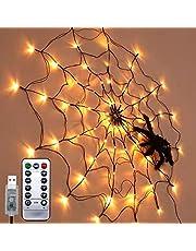 Ding Yongliang Halloween pająk łańcuch świetlny, 1 metr Halloween LED pająk łańcuch świateł, łańcuch świetlny zasilany baterią, 8 trybów oświetlenia, na Halloween dekoracje wewnętrzne i zewnętrzne (USB)