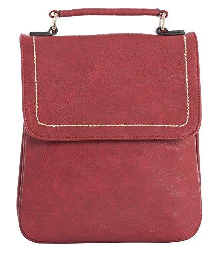 main pour style multiples Shop Poches Sac rouge Big femme à Medium Taille Rouge Tan Marron sacoche S Handbag qnB0wxIAU