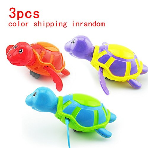 Baby&Child Floating Bath Fun Toys ,Wiggly Swimming Turtles Pool Baby Play Chain Animal Toys, for 3 Months baby&kid at least