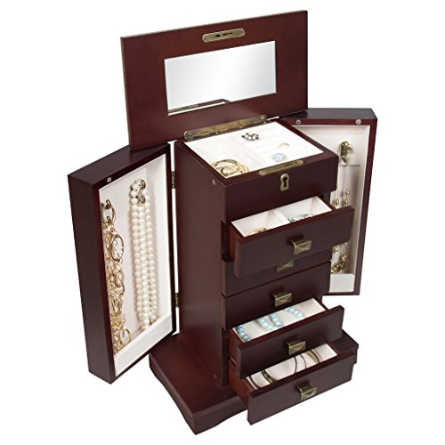 organizer-leather-jewelry-box-and-jewelry-watch-storage-with-mini-travel-case-and-keys