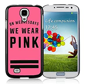 Personalized Design Samsung S4 Victoria's Secret Love Pink 48 Cell Phone Cover Case for Galaxy S4 I9500 I9505 Black