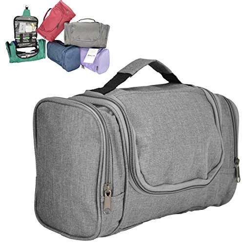 Price comparison product image DALIX Travel Toiletry Kit Accessories Bag, Gray