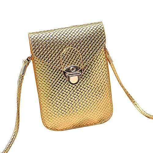 Mujer Navidad de Cotidiano Uso Piel Mini Llevar Bandolera 1PCS Niñas LAAT Amarillo Oro para para Artículos wqFpXWOx