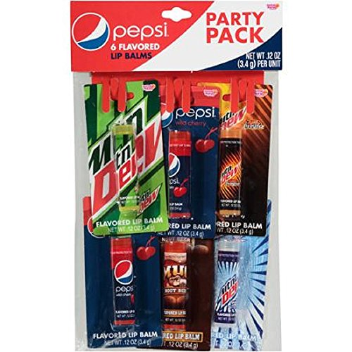 Pepsi Flavored Lip Balms, 0.12 oz, 6 count (Flavored Pepsi)