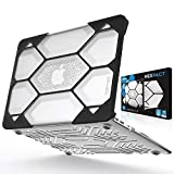 iBenzer Hexpact Dual Layer Design Full-Body Rugged Protective Case for MacBook Air 13 A1369/A1466 Clear (LC-HPE-A13CL)