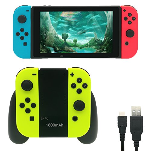 FastSnail Joy-Con Charging Grip, Charging Dock with Battery For Switch Joycon,Power Bank