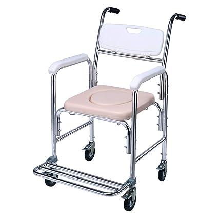 Amazon.com: Mesita de noche cómoda para inodoro con ruedas y ...