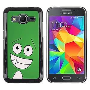 Exotic-Star ( Funny Happy Face ) Fundas Cover Cubre Hard Case Cover para Samsung Galaxy Core Prime / SM-G360