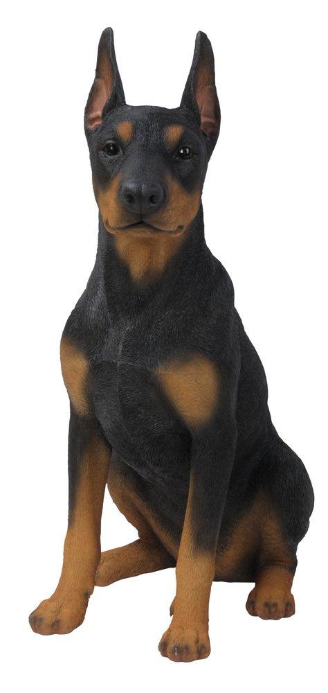 Hi-Line Gift Ltd Sitting Doberman Pinscher Dog Statue