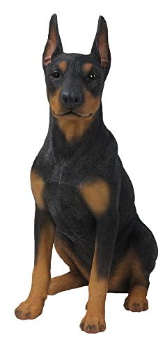 Hi-Line Gift Ltd Sitting Doberman Pinscher Dog Statue