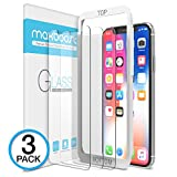 image for iPhone X Screen Protector, Maxboost (Clear, 3 Packs) iPhone X…
