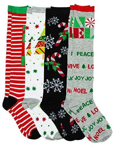 caramel-cantina-knee-high-festive-holiday-christmas-socks-4-pack