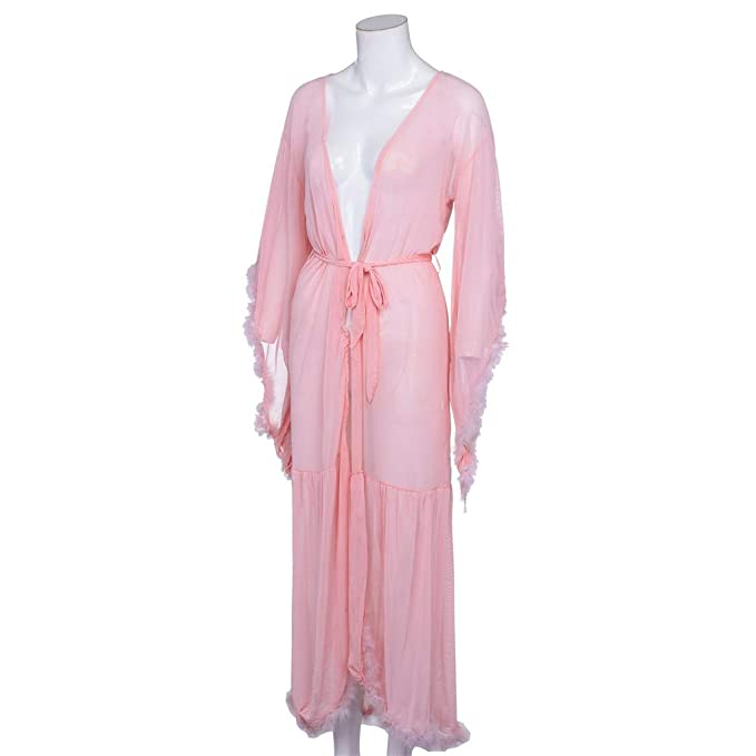 Beladla Bata Mujer Sexy Color SóLido Comodisimas Casual CamisóN Sexy Pijama Vestido Kimono Pijama Ropa De Dormir Batas: Amazon.es: Ropa y accesorios