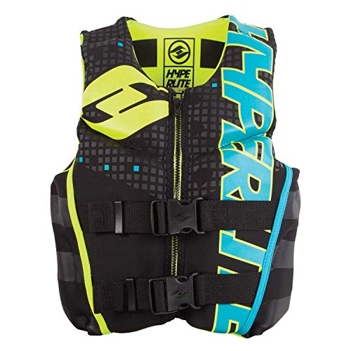 (Hyperlite 2019 Boys Youth Indy Neo Vest for Wakeboard Wakesurf Ski Size Large)