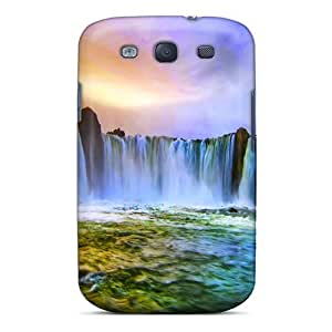 High Quality STWanke Wide Waterfalls Skin Case Cover Specially Designed For Galaxy - S3