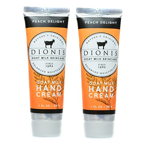 Dionis Goat Milk Hand Cream 2 Piece Travel Gift Set - Peach Delight