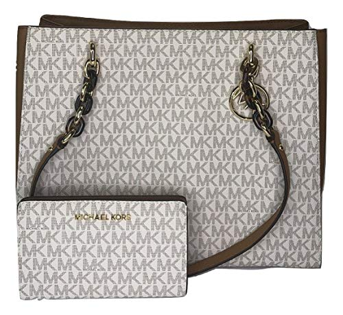 a33832439d3b MICHAEL Michael Kors Sofia Large Shoulder Tote bundled with Michael Kors  Jet Set Travel Slim Bifold