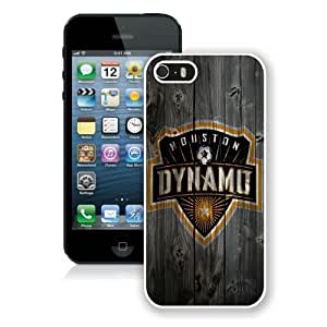 Personalized Custom Picture iPhone 5S,Houston Dynamo Wood White iPhone 5S Custom Picture Phone Case