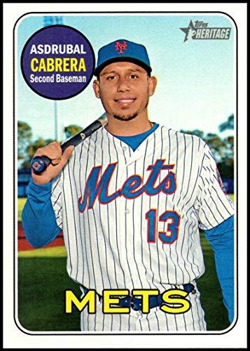2018 Topps Heritage High Number Baseball #536 Asdrubal Cabrera New York Mets Official MLB Trading Card