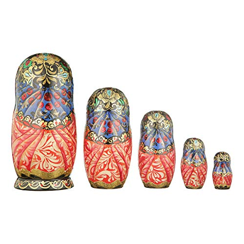 danila-souvenirs Russian Wooden Nesting Dolls Hand Painted Matryoshka 5 pcs Set Fairy Tale 7.5'' by danila-souvenirs (Image #1)